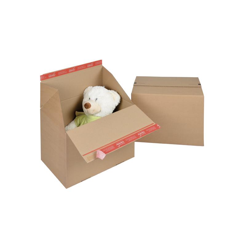 Caisse EUROBOX fond auto simple cannelure fermeture adhésive