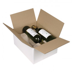 Caisse bouteilles Simple cannelure 305 x 240 x 154 mm