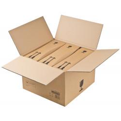 Caisse de regroupement étui bouteilles certifiée DHL 375 x 365 x 125 à 250 mm