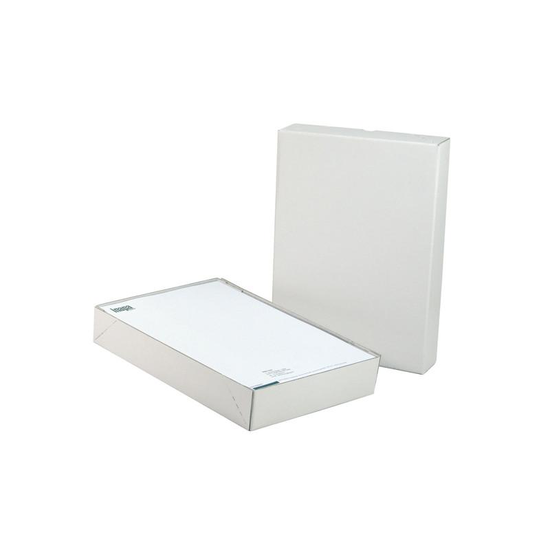 Boîte cloche 4 coins collés blanche