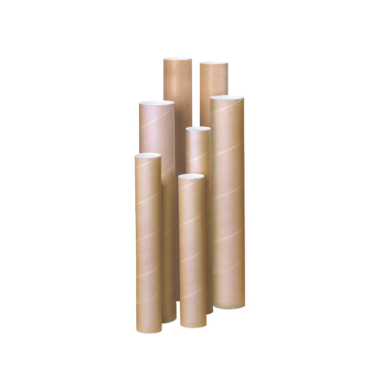 Tube d'expédition à bouchons plastiques beige