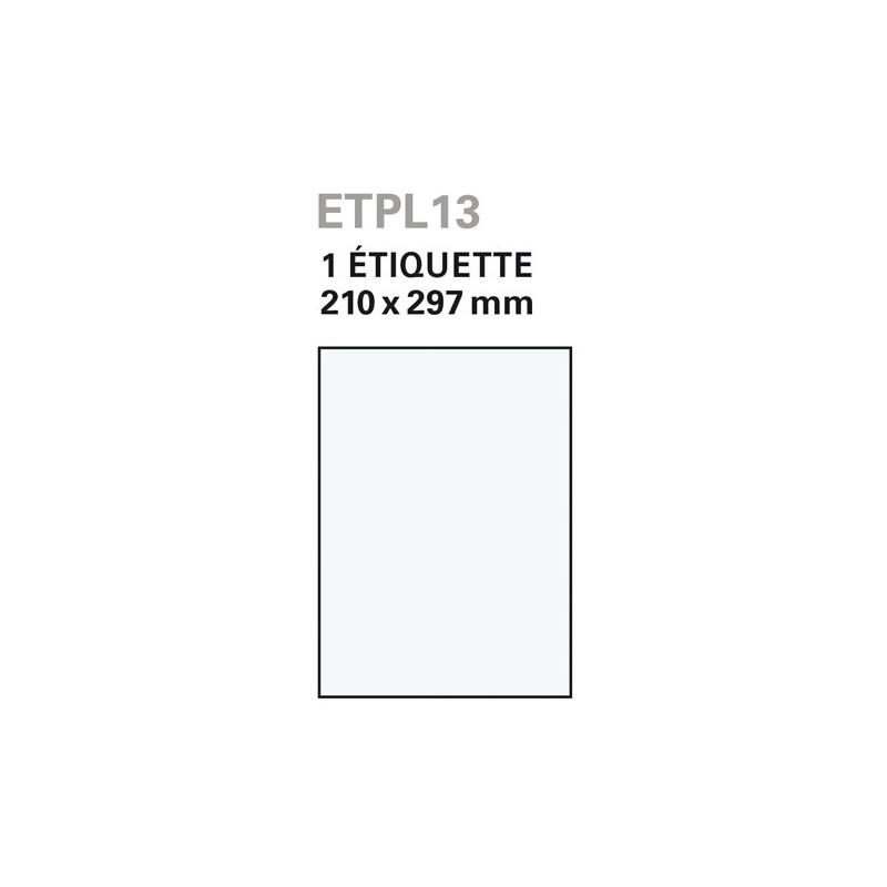 Etiquettes blanche laser