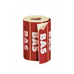 Rouleau d'étiquettes de signalisation adhésives