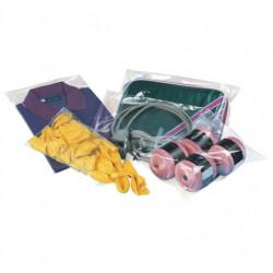 Sachet plastique à fermeture adhésive repositionnable 40 microns