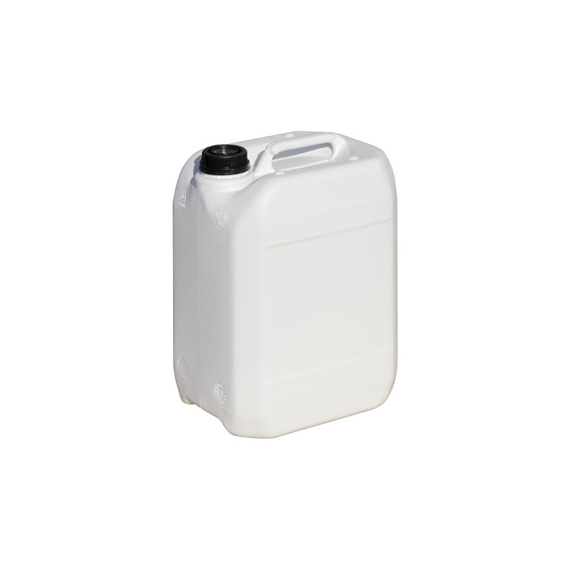 Bidon plastique blanc