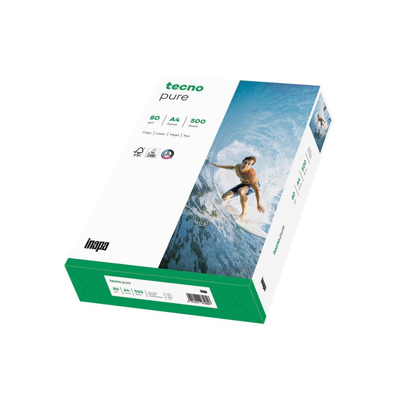 Ramette papier blanc multifonction 100% recyclé tecno Pure 80g A4