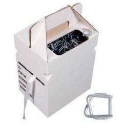 Kit de feuillard textile en boîte distributrice + Boucle - Pakup-Emballage.fr