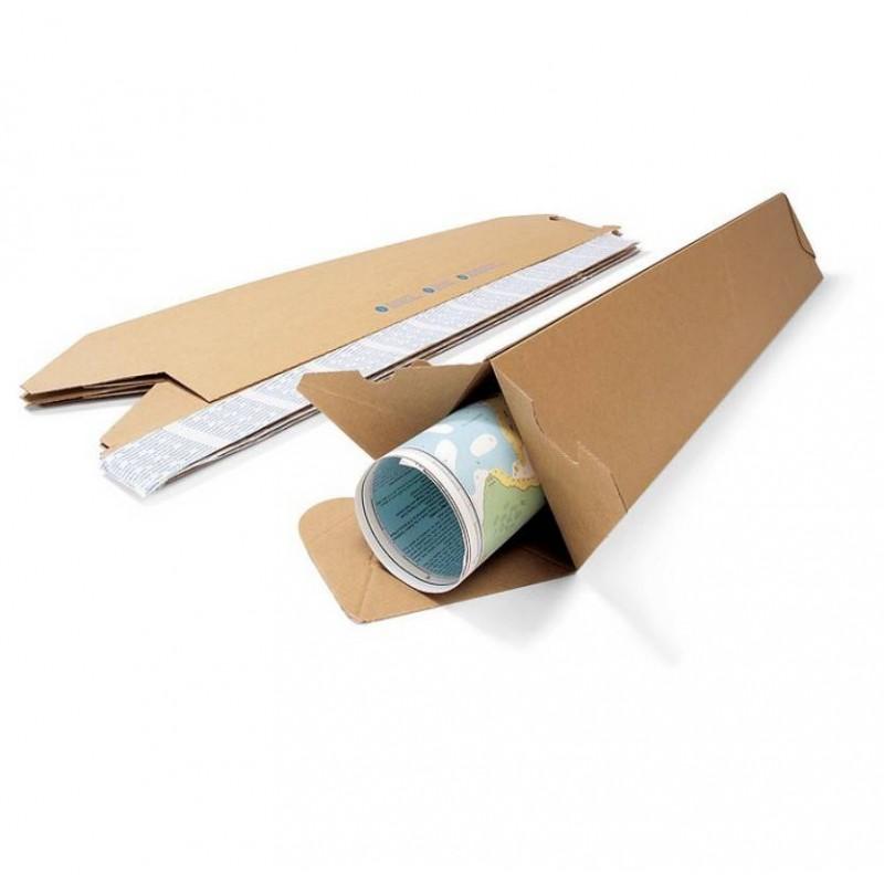 Fourreaux d'expédition triangulaire, Etui carton - Pakup-Emballage.fr