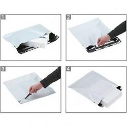 Pochettes plastique opaque Aller/Retour, Enveloppe Matelassée - Pakup-Emballage.fr