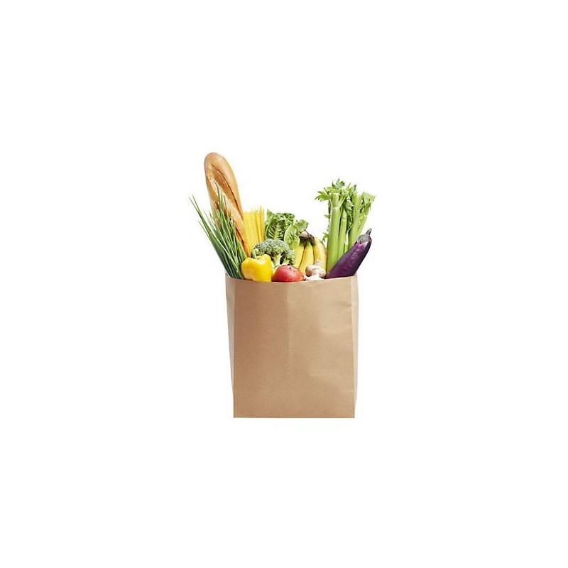 Sac kraft soufflet, Sac courses - Pakup-Emballage.fr