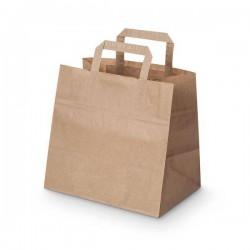 Sac kraft poignées plates - Pakup-Emballage.fr