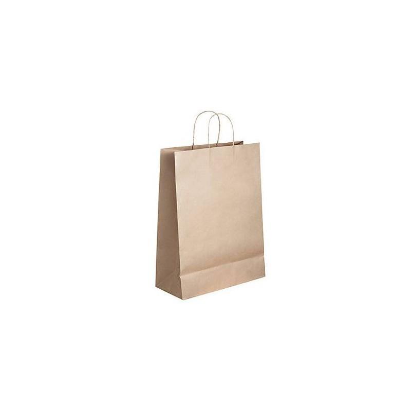 Sac kraft poignées torsadées, Sac courses - Pakup-Emballage.fr