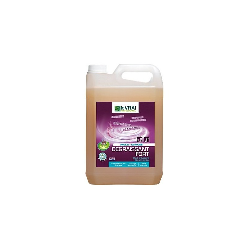 Dégraissant fort sols et surfaces, très concentré, Produit d'entretien - Pakup-Emballage.fr