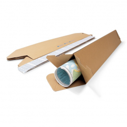 Pack de 25 Tubes Carton Triangulaire - Pakup-Emballage.fr