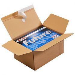 Cartons à fond automatique et bande adhésive