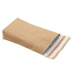 Pochette aller/retour en papier kraft avec soufflet de fond